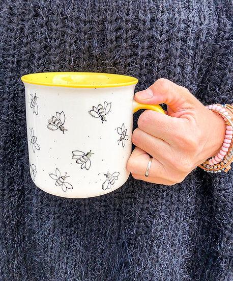 Bee Stoneware Mug