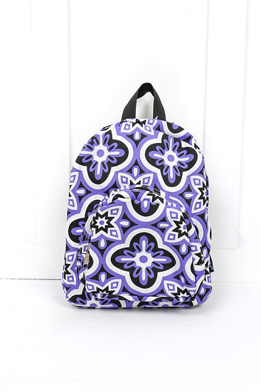 Small Purple Flower Backpack