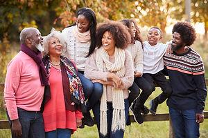 Multi Generation Family On Autumn Walk I
