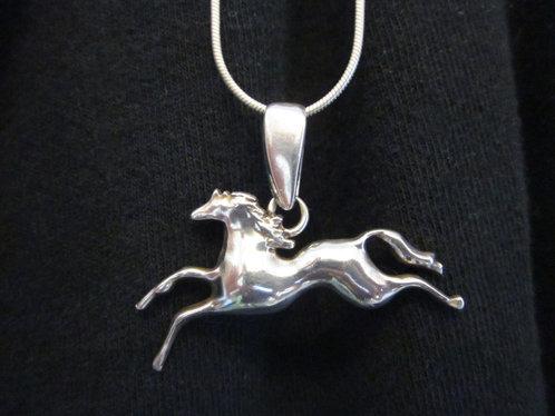 Custom Designed Sterling Silver Spirit Horse Pendant