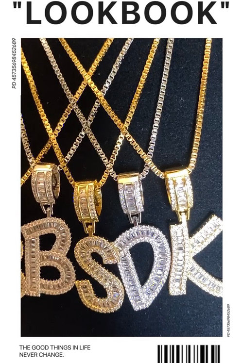 "The ""Baguette Initial "" necklace"