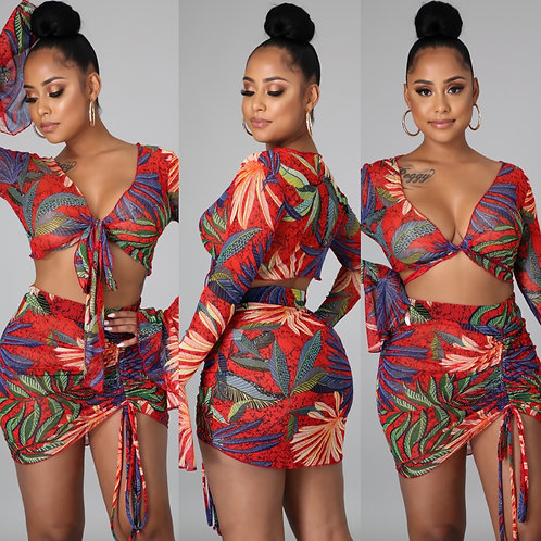 "The ""Tropical Breeze"" Skirt Set"