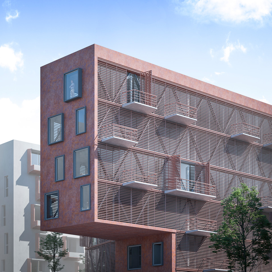 Distric 9 - Prague 250 housing Blocks Penta RealState Competition - Cfrarch