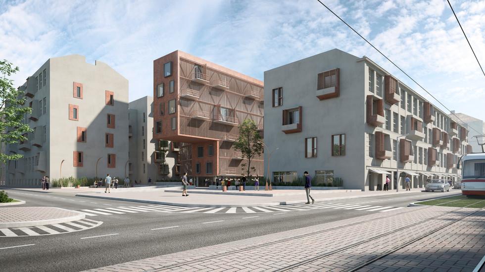 Distric 9 - Prague 250 housing Blocks Penta RealState Competition - Cfrarch