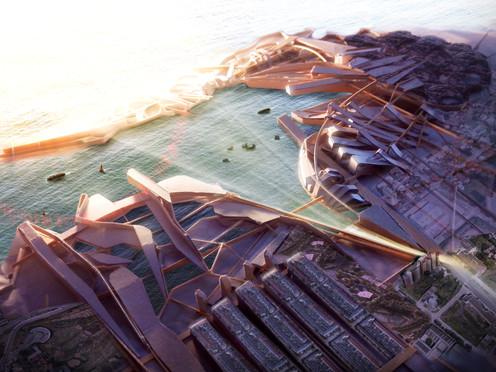 Masterplan Urbano. Fotomontaje sobre maqueta / MDQ