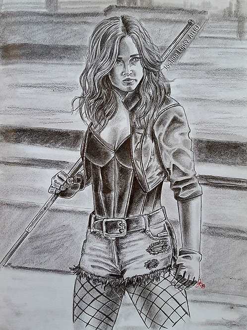 The Black Canary (Black & White) - Prints