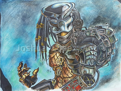 The Predator with Armor - Blue - Prints Only