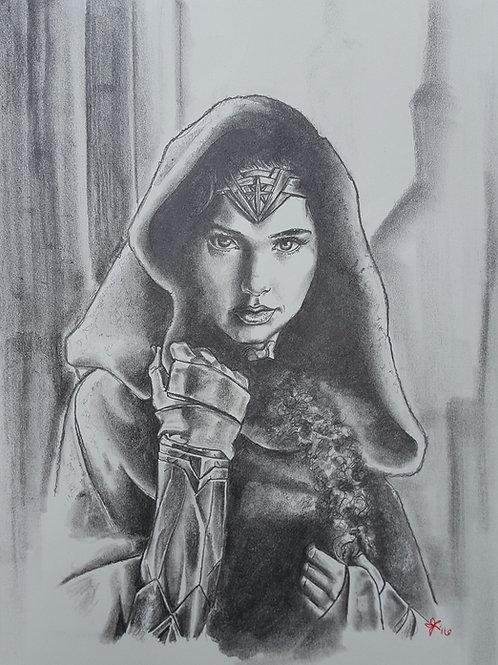 Wonder Woman (Black & White) - Print