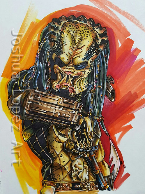 The Predator - Red/Yellow - Print Only