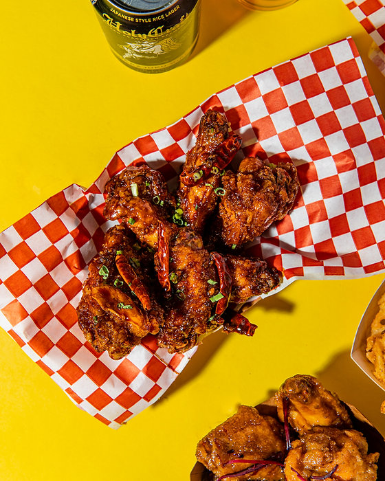 A-side alpha fried chicken wing from WingSlut in San Francisco.