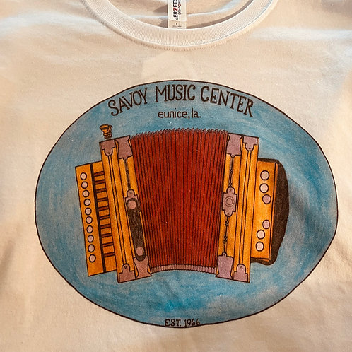 Hand-drawn Accordion T-Shirt by Gabrielle Savoy