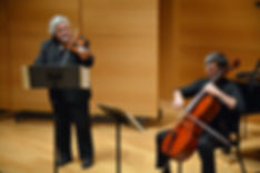 Andres Cárdenes, violin; Andres Díaz, cello