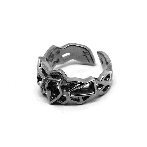 WIREFRAME Ring (S) / Metallic Black