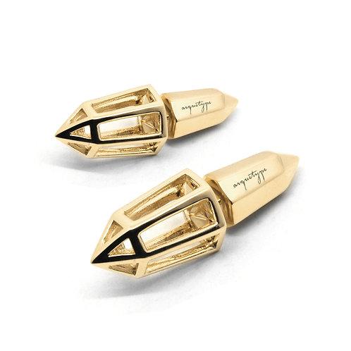 BULLET Earrings / 18K Yellow Gold