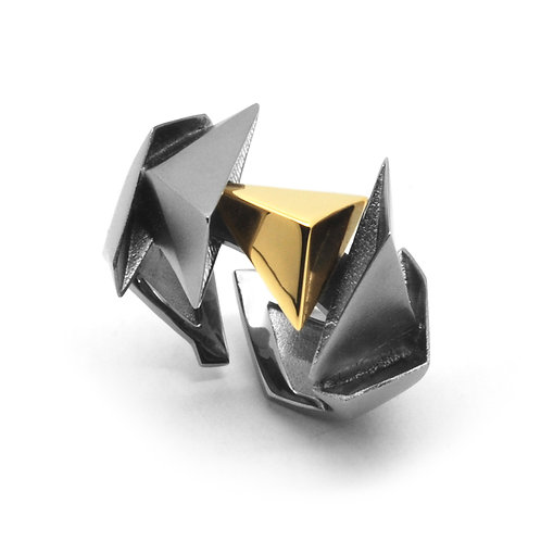 BERMUDEZ Ring / Gun Metal - 18K Yellow Gold