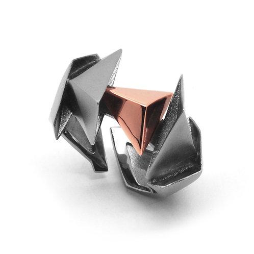 BERMUDEZ Ring / Gun Metal - 18K Rose Gold