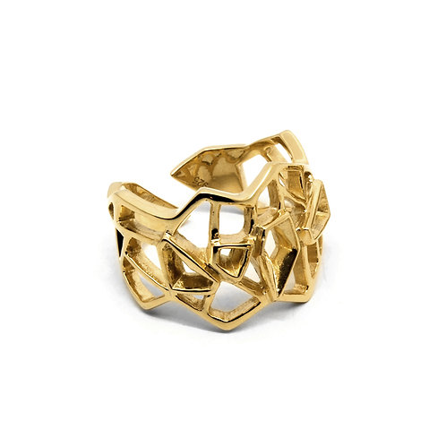 WIREFRAME Ring / 18K Yellow Gold