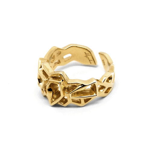 WIREFRAME Ring (S) / 18K Yellow Gold