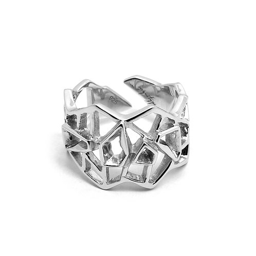 WIREFRAME Ring / White Gold