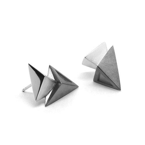 BERMUDEZ Earrings / Gun Metal - White Gold