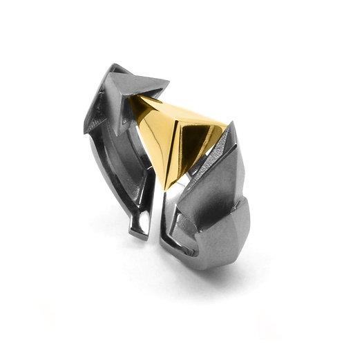 BERMUDEZ Ring (S) / Gun Metal - 18K Yellow Gold