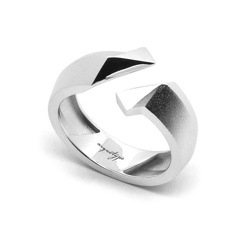 TWIST Ring / White Gold