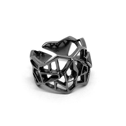WIREFRAME Ring / Metallic Black