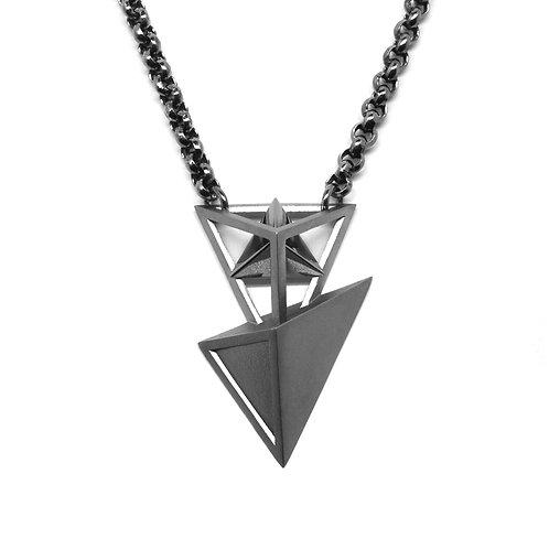 Secret BERMUDEZ Necklace / Gun Metal