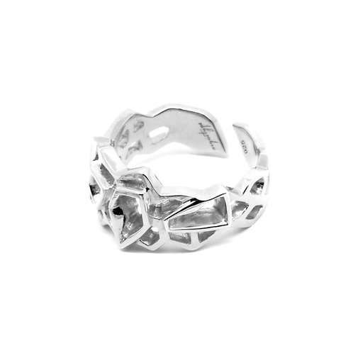 WIREFRAME Ring (S) / White Gold