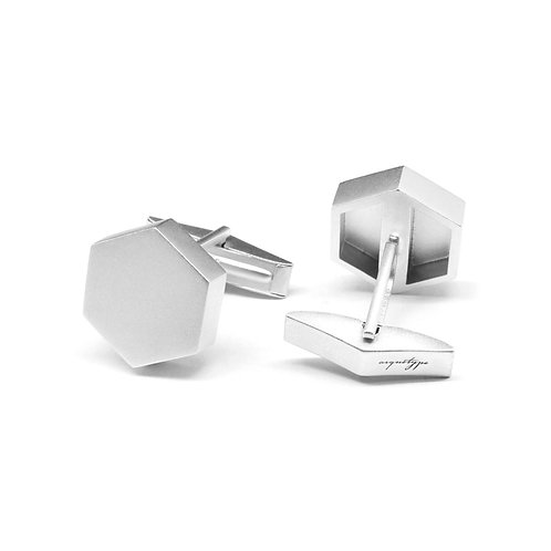 KNOT Cufflinks / White Gold