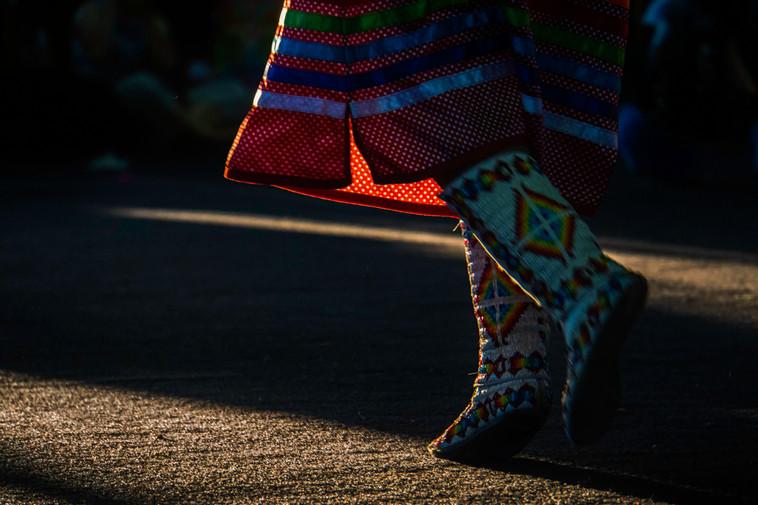 Dancing Feet at a PowWow, Bragg Creek, Alberta, Canada
