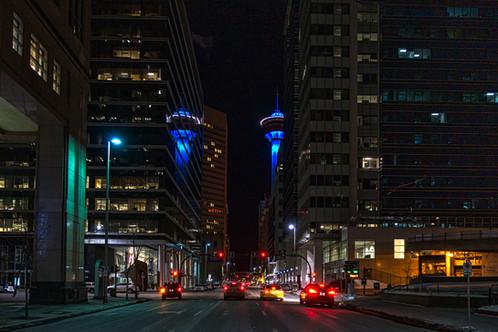 Calgary, Alberta at Night