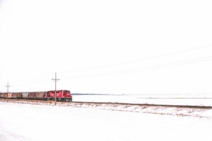 Train on the Prairies