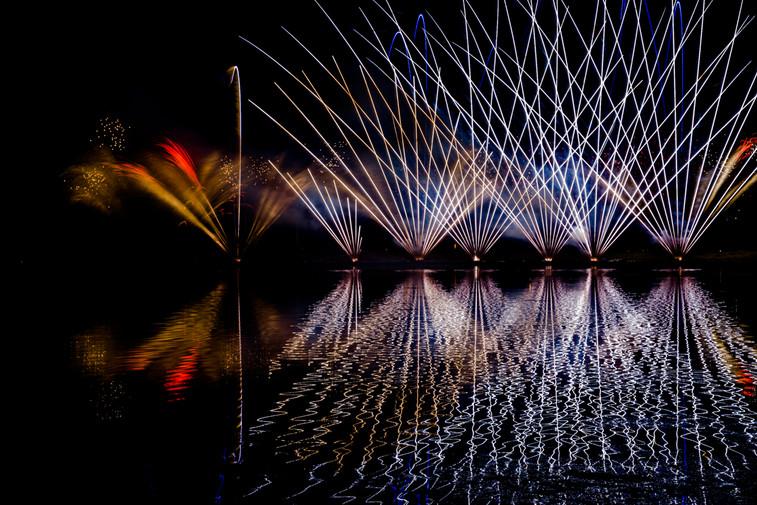 Fireworks at GlobalFest, Calgary, Alberta, Canada