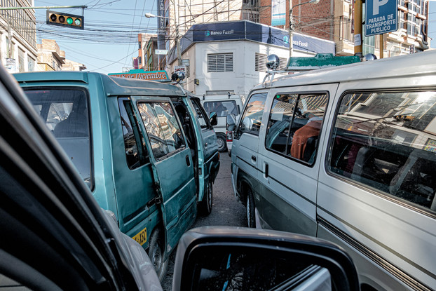 Traffic Jam, El Alto, Bolivia