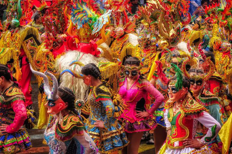 Dancers at Oruro Festival, Bolivia
