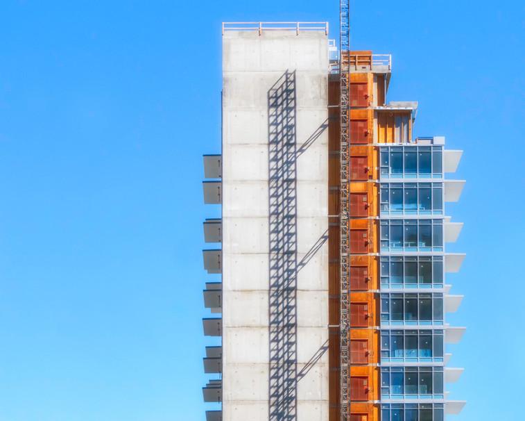 Colourful Highrise in Calgary, Alberta, Canada