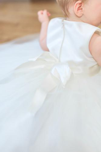 Satin bodice - Tuille skirt