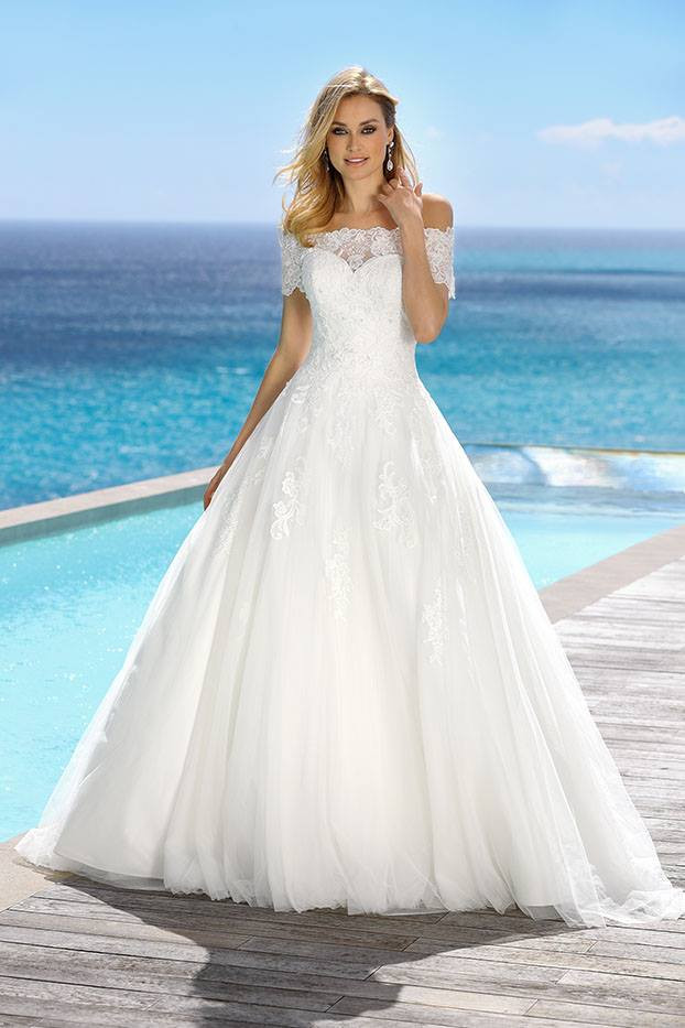 418029 Ladybird wedding dress Bardeau off shouler wedding dress.jpg