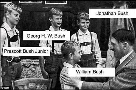 hitler with the bush family.jpg