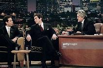 JFK JR Jay Leno 1998 with Seinfeld Leno