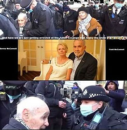 Field and Denise in london at the assange hearing.jpg