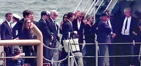 JFK Funeral on Naval Ship with Ted 17 pe