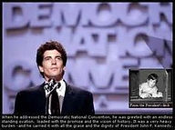 JFK Jr Democratic Convention with writin