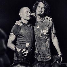 Chester Bennington Chris Cornell bw.jpg