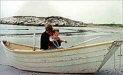 Jon and JFK in a row boat from poem.jpg