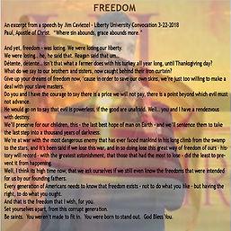 Freedom Jim Cavizel Liberty University s