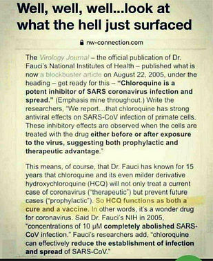 Fauci admits HCQ is cure.jpg