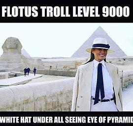 melania under all seeing eye of pyramid.