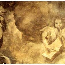 tamburo di cord. Detail fresco 1630 by Juan Galbàn (1596-1658)